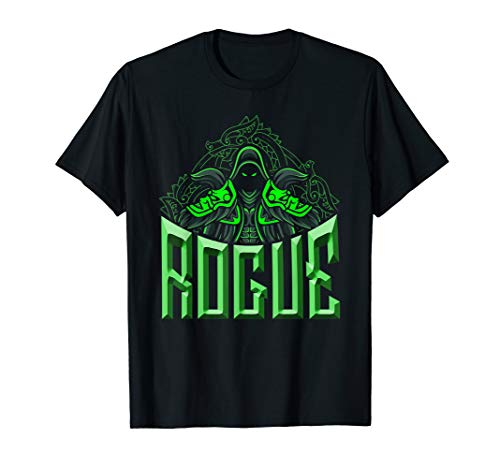 Elven Rogue Assassin Fantasy Class Graphic Shirts for Gamers T-Shirt