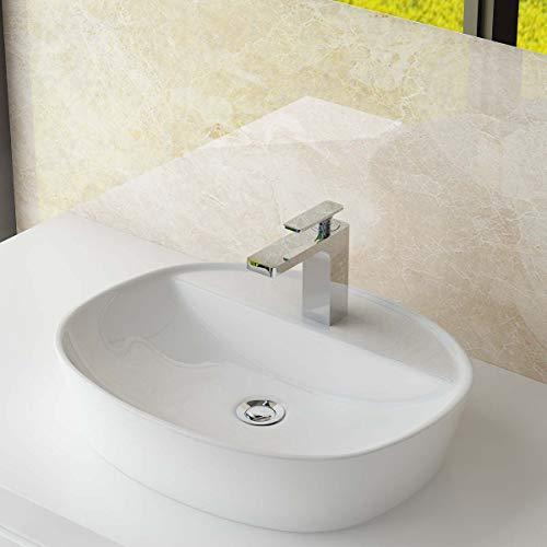 Waschbecken24 DESIGN KERAMIK AUFSATZWASCHBECKEN WASCHSCHALE HANDWASCHBECKEN GÄSTE WC TOP A298