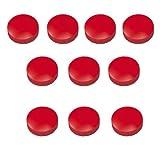 10x Magnete, Rot Ø 32mm, Haftmagnete für Whiteboard, Kühlschrankmagnet, Magnettafel, Magnetwand, Magnet Rund