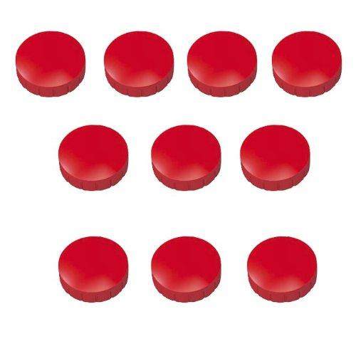 30x Rote Magnete, Ø 15, 20, 24 mm, Haftmagnete Rot für Whiteboard, Kühlschrank, Magnettafel, Magnetset 3 verschieden Größen, Rot