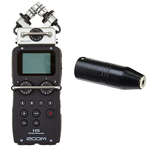 Zoom H5 Grabador de Voz (Digital, de 4 Pistas, portátil), Color Negro + Rode Microphones VXLR Cable XLR a Jack, Color Negro