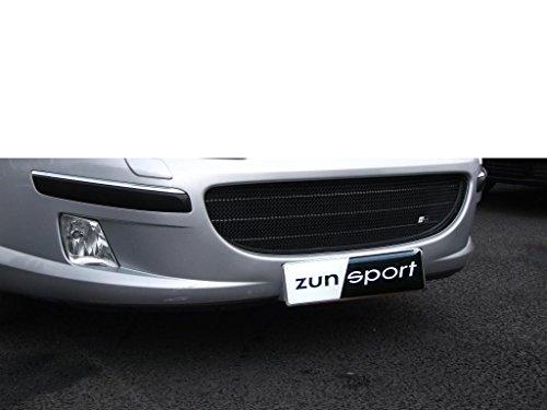 Zunsport Compatible con Peugeot 407 Parrilla Delantera - Acabado Negro (De 2004 a 2007)