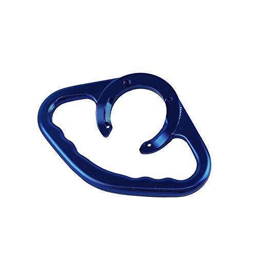 MANIPULACI/ÓN Motocicleta CNC Aluminio Pasajeros Manijas Tanque Barra de agarre Asas Apoyabrazos for Suzuki GSXR400 600750 1000 1100 SV650 Color : Azul