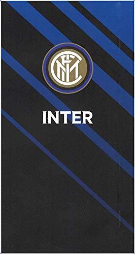Inter Telo in Microfibra, Nero/Azzurro, 90x170