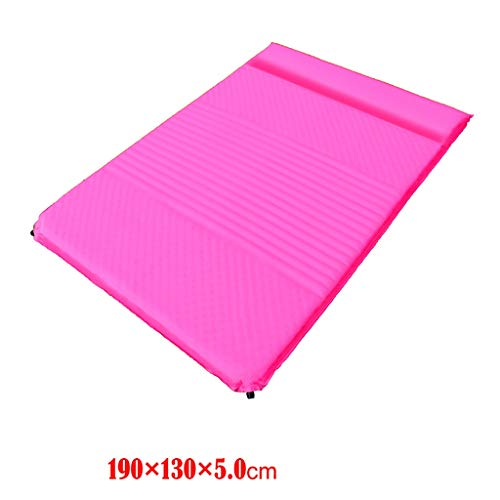 Bxcqd Double Automatic inflatable cushion Outdoor tent sleeping mat 3-4 people Thickened mat Camp mat Air bed Thicken Multicolor 5cm thickness (color : A1, Size : Color pattern)