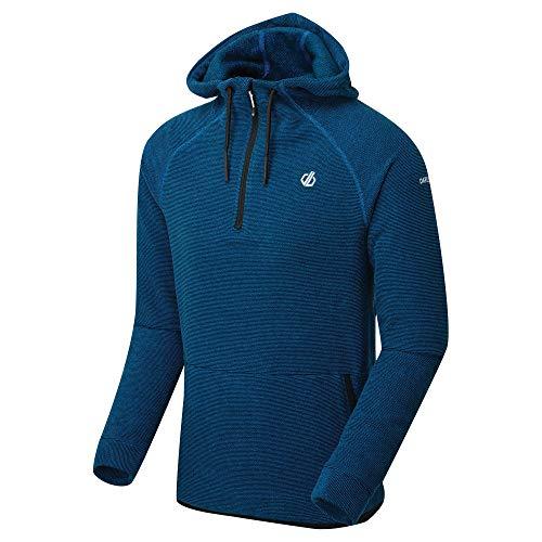 Dare 2b Herren DMA443 4PA60 Forgo' Half Zip Kangaroo Pocket Grid Fleece-Jacke, Atheltic Blue, M