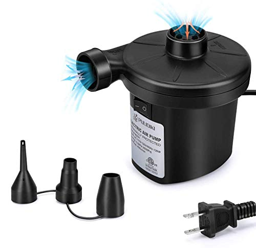 Electric Air Pump for Inflatables, Air Pump Air Mattress Pump with 3 Nozzles Inflator/Deflator Quick Air Pump for Air Bed Pool Toy Raft Boat Swimming Ring AC 110V 130W
