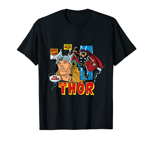 Marvel Comics Mighty Thor Retro Distressed Comic T-Shirt T-Shirt