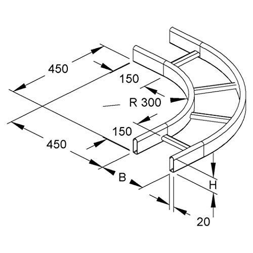 Niedax Kleiner Bogen KROBK 60.325 F KRO Bogen für Kabelleiter 4013339849048