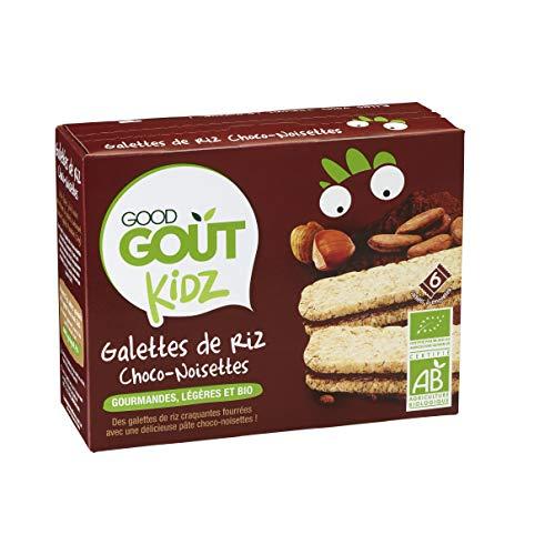 Good Goût Kidz - BIO - Galettes de Riz Fourrées Choco Noisettes 6 x 20 g