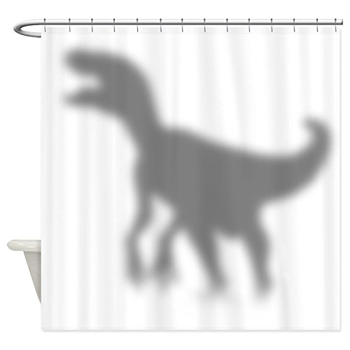 Diuangfoong Dinosaur Velociraptor Silhouette Shower Curtain