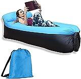 MLYX Tumbona hinchable, sofá de aire, impermeable, antifugas de aire, portátil, fácil de inflar, para camping, piscina, al aire libre, pícnics