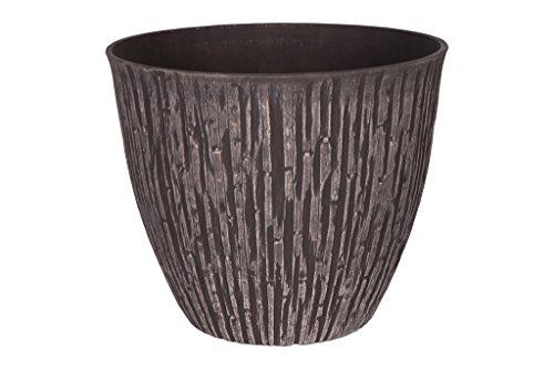 Cera-Mix Pot de Fleurs, Bac à Plante Caval, résistant au Gel et ultraléger, Brun, 51x44cm