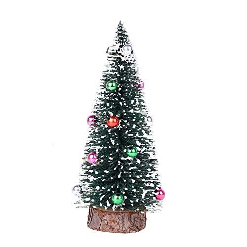 Sayla Mini Weihnachtsbaum Tannenbaum mit Ständer 15cm/ 5.9 Zoll für Weihnachten-Dekoration Weihnachtsbaum Künstlich Klein Weihnachtsdeko (Weihnachtsbaum mit Schnee)