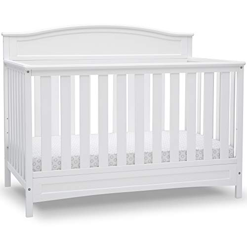 Delta Children Emery Deluxe 6-in-1 Convertible Crib, Bianca White