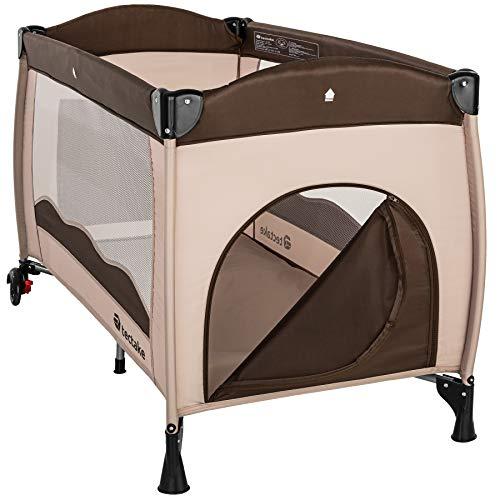 TecTake Kinderreisebett mit Schlafunterlage und praktischer Transporttasche - diverse Farben - (Coffee | Nr. 402417) - 4