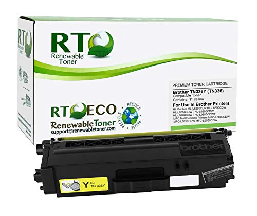 Renewable Toner Compatible Toner Cartridge High Yield Replacement for Brother TN-336Y TN336 HL-L8250 L8350 MFC-L8600 L8850 (Yellow)