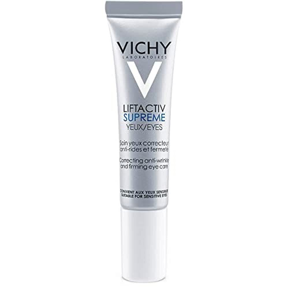 Vichy LiftActiv Supreme Anti Wrinkle Eye Cream, Firming Eye Cream with Caffeine for Dark Circles & Puffiness, Ophthalmologist Tested : Beauty & Personal Care
