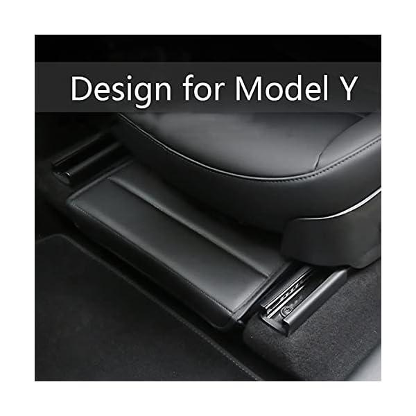 kikimo tesla model y under-seat storage box compatible with 2020-2021, tesla model y accessories, main and co-pilot…
