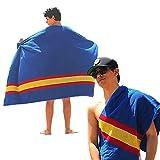 noi Toalla de Playa Grande + Toalla de Gym. 100% algodón. Bandera de España (Azul) 2 Piezas de Diferente tamaño.