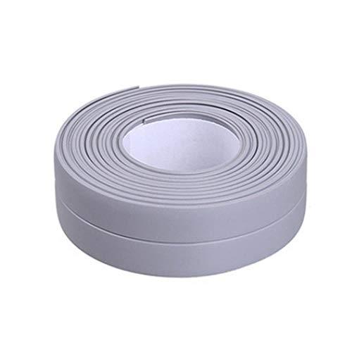 Nieuwe 3.2mx22mm 38mm Badkamer Douchebak Bad Afdichtstrip Tape Wit Zelfklevende Waterdichte Muursticker voor Badkamer Keuken, 10 grijs 22mm, Spanje