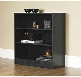 Mainstays Wide 3-Shelf Bookcase, Black