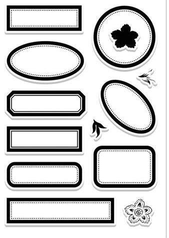 Rahmen-Hintergrund transparent klar Silikonstempel/Siegel für DIY Scrapbooking/Fotoalbum dekorative klare Stempel M1156