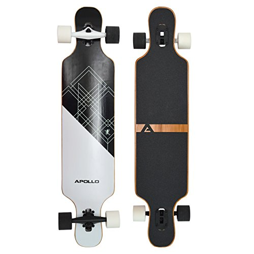 Apollo Longboard Samoa Special Edition Komplettboard mit High Speed ABEC Kugellagern inkl. Skate T-Tool, Drop Through Freeride Skaten Cruiser Boards