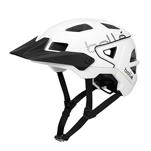 Bollé Erwachsene Trackdown Cycling Helme, White Matte, Small 52-55 cm
