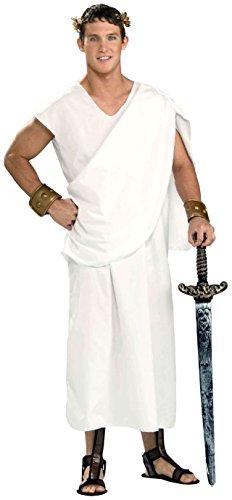 Forum Novelties Costume Toga, White, Standard