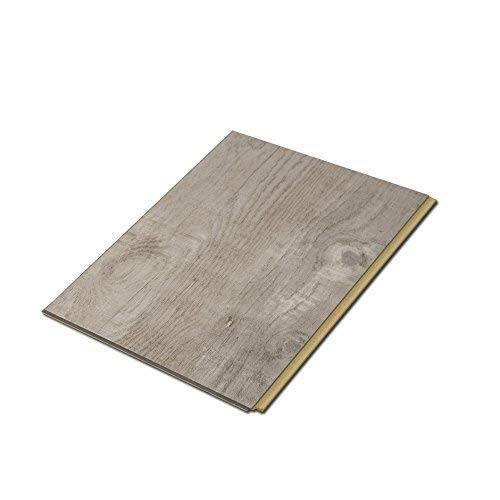 "Cali Bamboo - Cali Vinyl Plus Cork-Backed Vinyl Floor, Extra Wide, Gray Ash Wood Grain - Sample Size 5-3/4"" L x 7 1/8"" W x 7mm H"