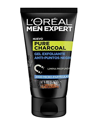 L'Oreal Men Expert Pure Charcoal, Gel Exfoliante Anti-Puntos Negros, 1 Paquete de 6 Unidades x 100 ml - Total: 600 ml
