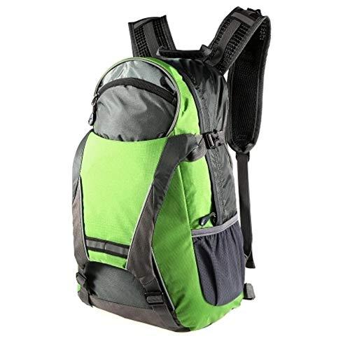 KX-YF Fahrradrucksack 18L Fahrrad-Fahrrad-Rucksack LED Blinker Licht reflektierendes Bag Pack Outdoor Sicherheit Nacht Reiten oder Fahren Rennen Camping Green für Mountainbike