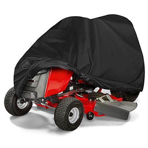 Tvird Lawn Mower Cover,Heavy Duty 300D Waterproof Riding Lawn Mower Cover | Features Double Stitched Seams & Interior Waterproof&UV Protection Coating | for Up to 54'' Decks(L72 xW55 xH47)