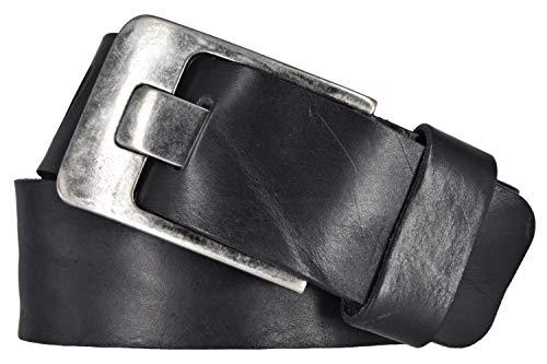 Bernd Götz Herrengürtel Walkleder Schwarz 50379-0020 Jeansgürtel Herren Jeans Ledergürtel Echt Leder Echtleder Gürtel 100 cm