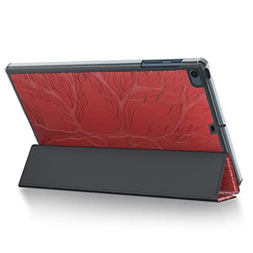 ONETHEFULCarcasaLibroFundaTabletAppleiPad9.7'20172018/iPadAir2013/iPadAir22014CoverDelgadaTrípticaFundasProtectorconCuerodeimitaciónySoporte- Rojo