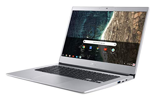 "Acer Chromebook 514 CB514-1H-P9AS Notebook Portatile, Processore Intel Pentium Quad-Core N4200, Ram 4GB DDR4, eMMC 128 GB, Display 14"" IPS Full HD, Scheda Grafica Intel HD 505, Google Chrome, Silver"