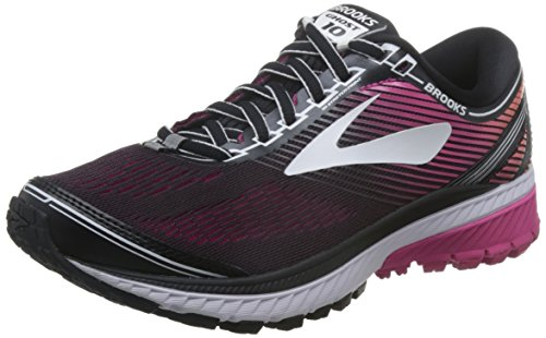 Brooks Ghost 10 Black/Pink Peacock/Living Coral 12