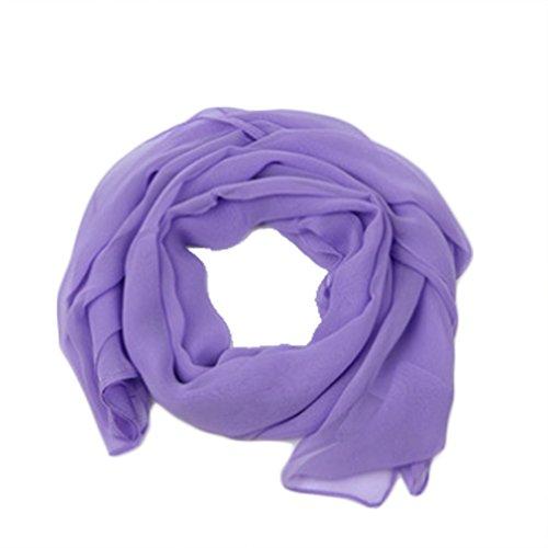 Ruikey Pañuelos Cuello Mujer Bufanda pura del color de la manera Mantón Bufanda Conveniente Para los Partidos, Playa, Otoño y Uso Diario del Invierno