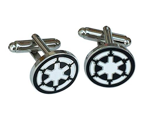 Orion Creations Imperial Empire schwarz, weiß und Silber Manschettenknöpfe in Geschenkbox