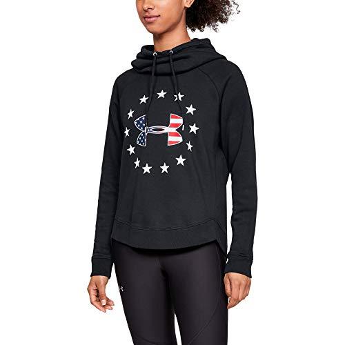 Under Armour Women's Freedom Logo Favorite Hoodie , Black (001)/White , Small