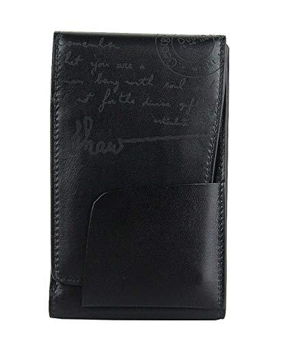 Montblanc Limited Writers Edition Bernard Shaw - Funda para Tarjetas de crédito con Almohadilla de Notas (Piel), Color Negro