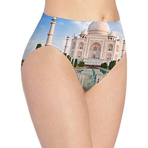 XCNGG Bragas Ropa Interior de Mujer 3D Print Soft Women's Underwear, Taj Mahal Fashion Flirty Lady'S Panties Briefs Medium