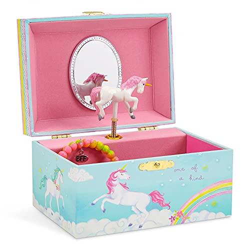 Jewelkeeper - Boîte à Bijoux Musicale pour Fille, Licorne Arc-en-Ciel Enchantée - Mélodie The Unicorn