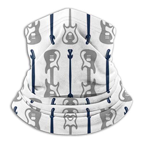 JaOUIY Bandana Drucke Reisen Rockmusik Gitarre Marine UV Sonnenmaske Staub Wind Hals Gamasche Halbe RFace Maske für Motorradfahren Staub Bandana Stoff