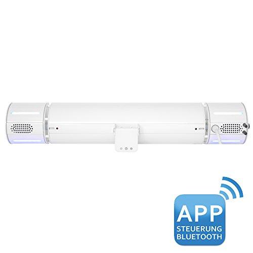 VASNER Appino BEATZZ Infrarot-Heizstrahler weiß, Terrassenstrahler dimmbar 2000 W, Bluetooth, LED Backlight Licht, Musik-Lautsprecher Außenbereich - 4