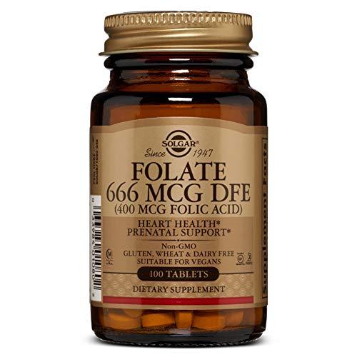 Solgar® Folacín (ácido fólico) 400 µg para embarazo y concepción - 100 comprimidos