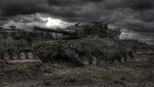 WFYY Puzzles 1000 Piezas, Tanques De Armas Militares