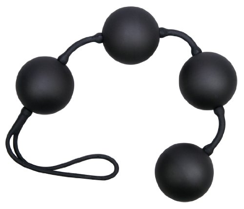 You2Toys Velvet Purple Balls 4er Kugeln - softe Liebeskugeln für sie, Loveballs für effektives Training der Vaginalmuskulatur und des Beckenbodens, Lustkugeln mit Rückholschlaufe, schwarz