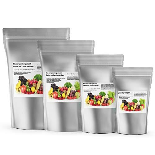 Kalium Potassium basierter Superabsorber Schauch HVDE 811. Obst Gemüse Kräuter Pflanzen Garten Beete Balkon Terrasse Wasserspeichergranulat Boden - Verbesserung - Auflockerung